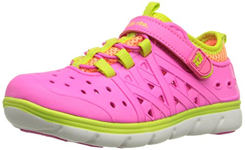 Stride Rite Made2Play Phibian Girls Trainers / Sandals / Water Shoes-Pink-4K