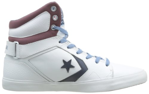 Converse Chuck Taylor All Star 12 Leath Mid, Baskets mode mixte adulte Blanc (Blanc/Bordeaux)