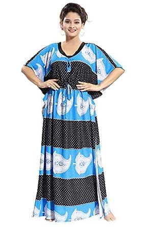 Noty Women's Satin Striped Maxi Kaftan