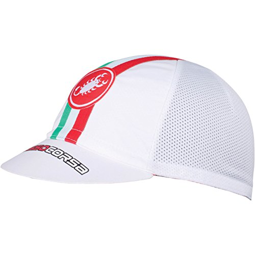 Castelli - Cap Performance Cycling, color blanco