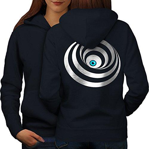 Œil Spirale Cool Mode Femme S-2XL Sweat à capuche le dos   Wellcoda Bleu