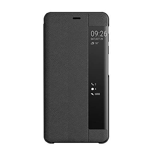 Compatibile con Samsung Galaxy Note 8 Cover, Ultrasottile Flip Custodia Finestra Intelligente Cover Premium Pelle + TPU Paraurti con Funzione Supporto Anti-Caduta Antiurto - Nero