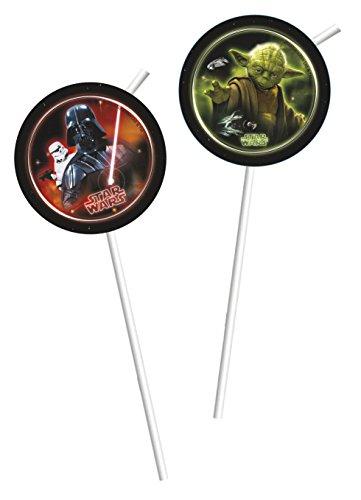 Star Wars Heroes und Villains Party Trinkhalme, 6Stück (Supplies Party Yoda)