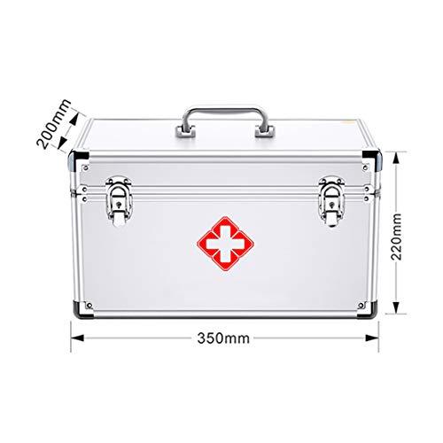 ZZZGY arztkoffer Verschließen der Medizinbox - Erste-Hilfe-Box, tragbare Medizinbox, Tragegriff MIT/A Schultergurt, Aluminiumlegierung