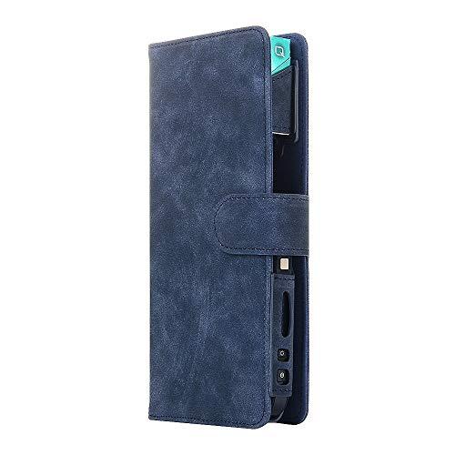 jbTec Tasche Case Etui #AE2 passend für IQOS 2.4/2.4 Plus - Schutz Hülle E-Zigarette Flip Schutzhülle Klapptasche Kunst-Leder, Farbe:Schwarz