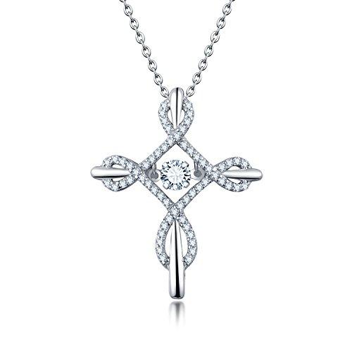 Starchenie Kette  925 silber durch anhänger,Infinity Kreuz Damen  Bindfäden Kruzifix anhänger Kette hochzeitsfeier