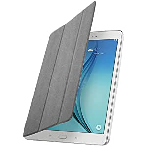 Étui folio EasyCover Gris support 3x positions + Arriere ultra-Clear pour Samsung Galaxy Tab A 9.7