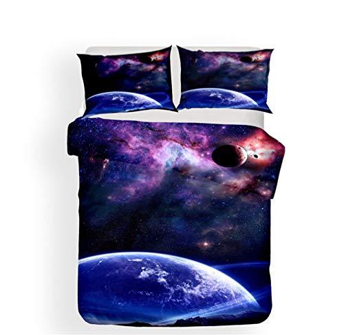 Ropa cama Galaxia Planeta Meteorito Negro Agujero