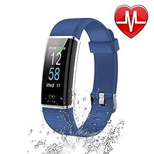 Letsfit Fitness Armband mit Pulsmesser Fitness Tracker Farbbildschirm Schrittzähler mit 14 Trainingsmodi IP68 Wasserdicht Aktivitätstracker mit Schlafmonitor Kalorienzähler kompatibel mit iOS Android MEHRWEG