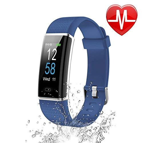 Letsfit Fitness Armband mit Pulsmesser Wasserdicht IP68 Aktivitätstracker Schrittzähler Uhr Schlafanalyse Fitness Tracker Farbbildschirm mit 14 Trainingsmodi Vibrationsalarm Anruf SMS für Damen Herren