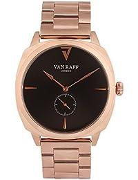 Van Raff Black Dial, Rose Gold Stainless Steel Strap Analog Watch For Men VF1986