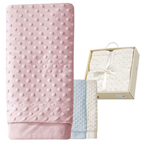 ☀️ERÖFFNUNGS-ANGEBOT  ☀️ Babydecke Mädchen rosa Kuscheldecke Baby rose Erstlingsdecke Set Decke ❤❤ super-weich Erstausstattung Geschenk Geburt 80x110 cm Neugeborene Spieldecke kuschelig Box