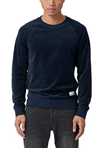 Q/S designed by Herren Meliertes Nicki-Sweatshirt Blue Nights Melange M