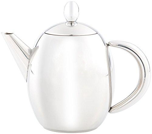 Rosenstein & Söhne Tee-Kanne mit Teefilter: Edelstahl-Teekanne mit Siebeinsatz, 0,5 Liter, spülmaschinenfest (Tee-Kanne mit Edelstahl-Teesieb) - 2