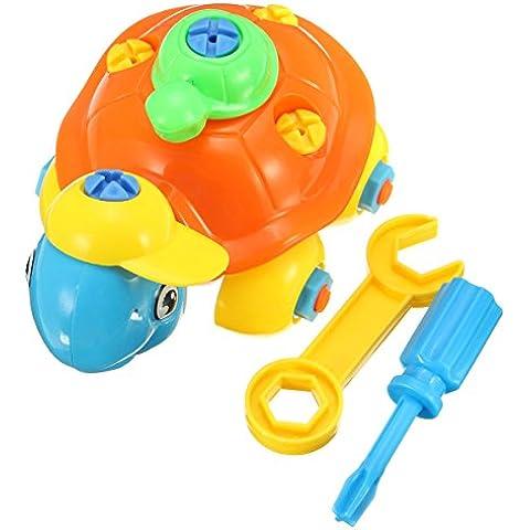REALACC DIY Cartoon Turtle Puzzle Building Blocks Children Developmental Toy