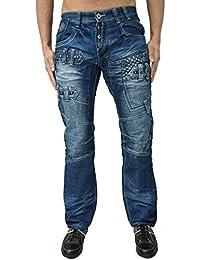 Eto Jeans Designer Men's Regular Fit Funky Distress Look Denim Pants Trousers Bottoms 2 Washes
