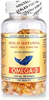 Gold Natural Omega 3 1000Mg. 200 Softgels