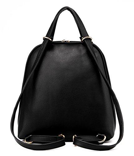 Keshi Pu Cool Damen accessories hohe Qualität Einfache Tasche Schultertasche Freizeitrucksack Tasche Rucksäcke Himmelblau