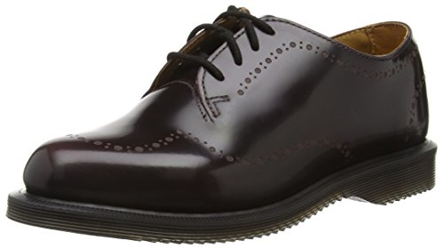 Dr. Martens - Charlotte Arcadia Cherry Red, Scarpe Stringate Basse Brogue Donna Rosso (rot (cherry Red))
