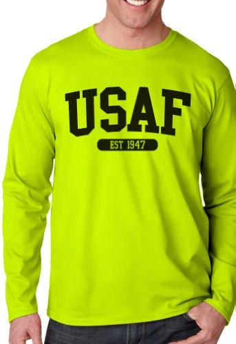 us-air-force-t-shirt-a-maniche-lunghe-ragazzi-yellow-l