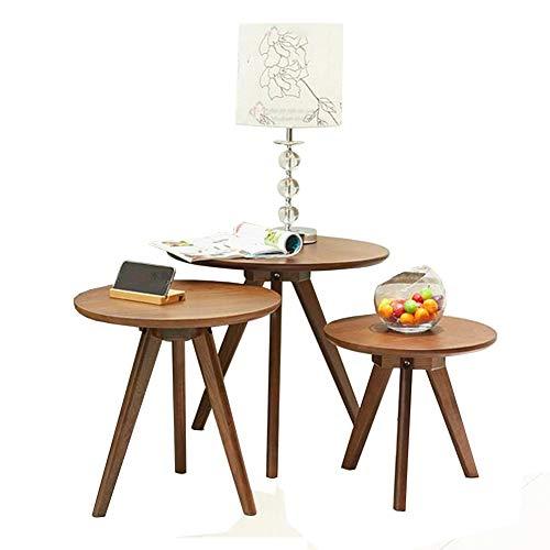 Tables CJC Basse, Chêne Nid De 3 Ensemble Café Thé Nidification Côté Moderne en Bois Bureau Accueil Intérieur (Couleur : Wooden Color)