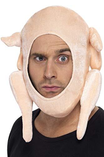 Karneval Kostüm Gurke - Smiffys Unisex Truthahn Kopfbedeckung, One Size,