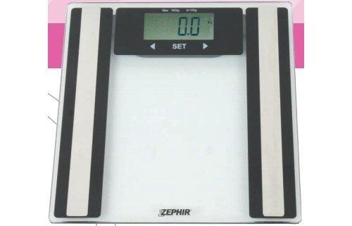 Zephir Bilancia Pesapersone Digitale Pesa Persone 180 Kg Piatto in vetro ZHS814