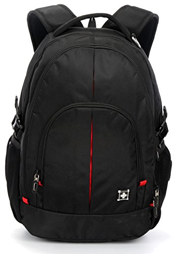 Swisswin Rucksack Rucksack Laptop Bag Sport Rucksack für Jungen Mädchen, schwarz (Schwarz) - SN8044-BK
