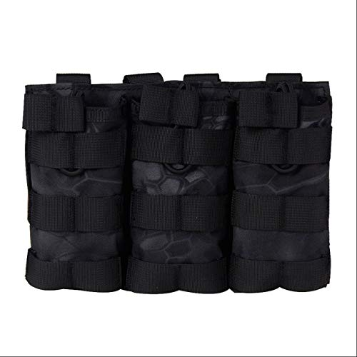 EdBerk74 Molle Triple Attachment Bag Taktische Weste Rucksack Spezielle Tasche Taktische Ausrüstung Paket-Dark Crepe TY Modern Crepe