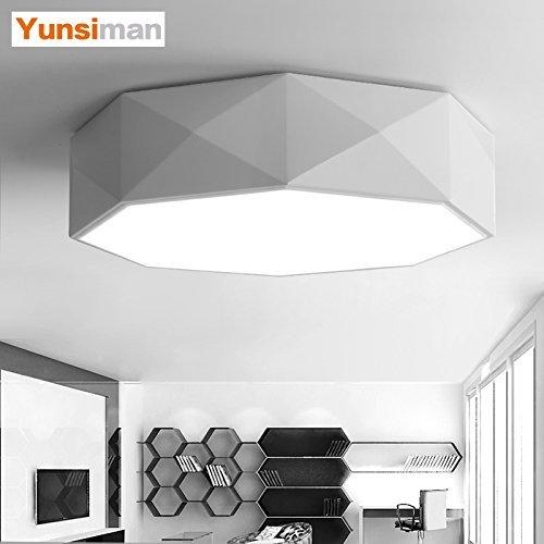 Unbekannt HBA Deckenleuchten Kronleuchter hängende Licht für Flur, Schlafzimmer, Küche, Kinderzimmer, Wohnzimmer 42 cm - stufenloses Dimmen