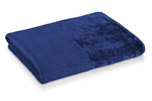 Möve 087325201425_3030 Bamboo Luxe Seiftuch 30 x 30 cm, nachtblau