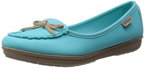 Crocs - Wrap Colorlite Balle, Mocassini Donna Blu (Pool/Tumbleweed)