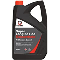 Comma SLA5L Super Red Antifreeze and Coolant Concentrated, 5 Litre