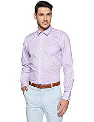 Amazon Brand - Arthur Harvey Men's Regular Fit Plain Formal Shirt