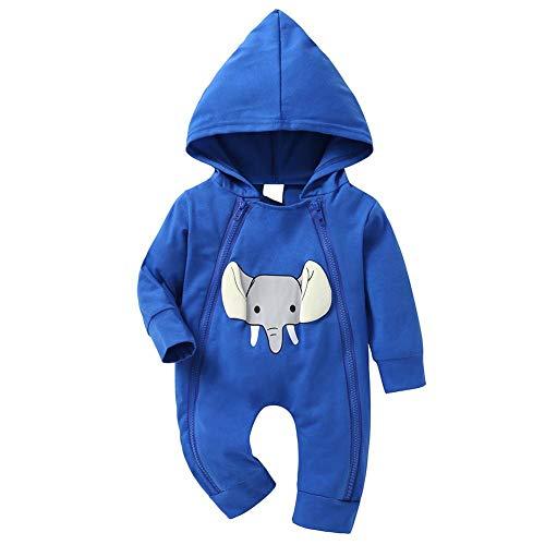 Silverone Mamelucos para Bebés, Monos de Moda Elefantes Lindos para Niños,Conjuntos de...