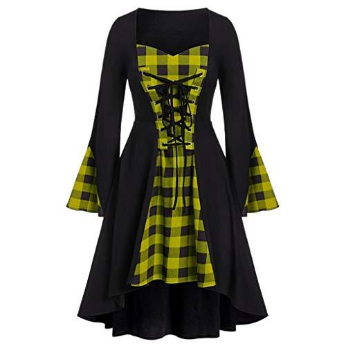 Lazzboy Damen Plus Size Halloween Gitter Lace