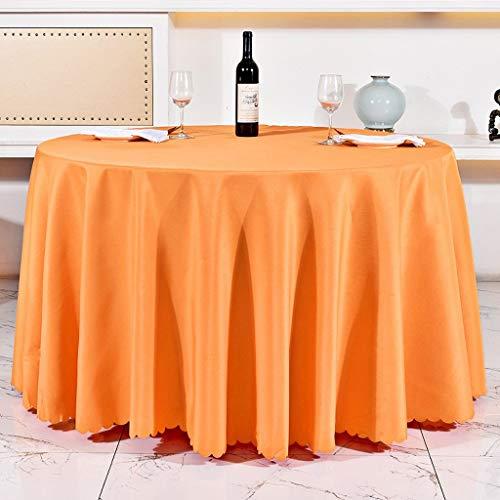 JFFFFWI Hotel Restaurant Restaurant européen, Nappe, Nappe en Tissu Polyester Enduit, conférence, diamètre 70.86cm Nappe Nappe Nappe Table nappes (Couleur : Orange)