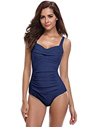 9f685f6aa7 SHEKINI Bikini Femme Body Guide Push up Maillots de Bain Femme 1 Pièce  Monokini Rembourré Beachwear