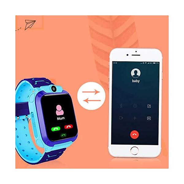 Localizador GPS Niños, Reloj GPS Niños Localizador Con SOS Anti-Lost Alarm Para Tarjeta Pantalla Táctil Smartwatch Para… 5