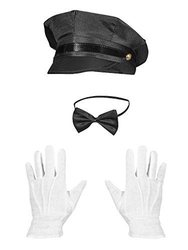 Chauffeur Mütze Kostüm - Chauffeur Set Hochzeitsfahrer Service