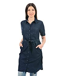 Monte Carlo Women Casual Shirt(_8907679598048_Navy_38_)