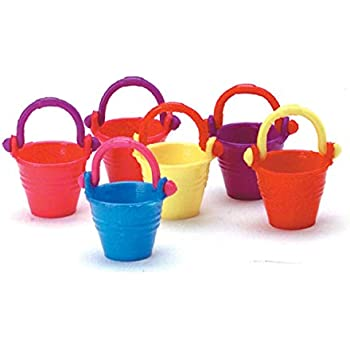 Special Design 1//12 Dollhouse Mini Accessory Outdoor Beach Pail Pink Bucket