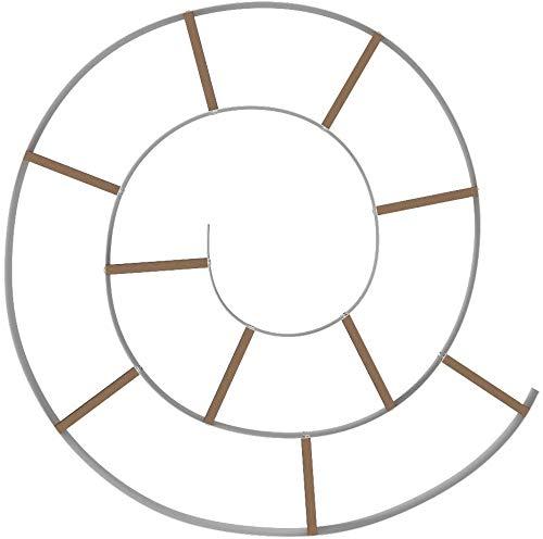 Wink Design Mensola da Parete libreria CHIOCCIOLA, Metallo, Bianco Lucido, 13.5x105x105 cm