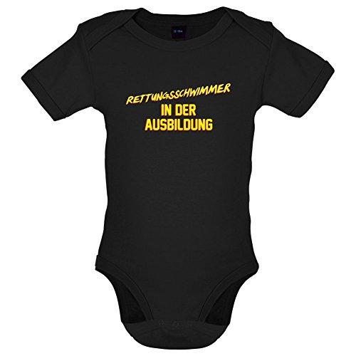 Rettungsschwimmer in der Ausbildung - Lustiger Baby-Body - Schwarz - 12 bis 18 Monate (Rettungsschwimmer-ausbildung)