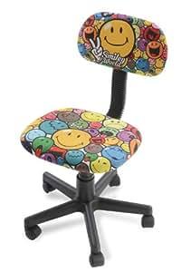 My Note Deco 064102 Smiley Chaise de Bureau Petit Modèle Polyester/Mousse de Polyuréthane Multicolore