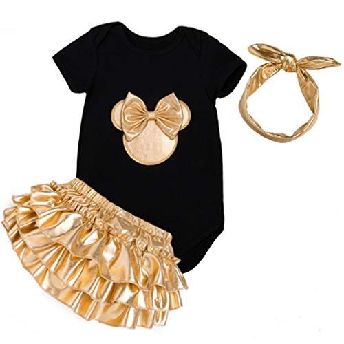 3 pcs Baby Mädchen Kleidung Set Neugeborenes Kleid Prinzessin Outfits ()