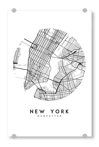 ild 120x80 cm Städte/New York New York City Map - Bild Manhattan New York City map ()