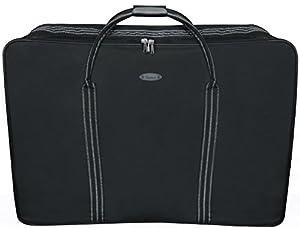 Eagle Black Super Lightweight Folding Suitcase Cargo Bag Holiday Travel 4 Wheeled Holdall