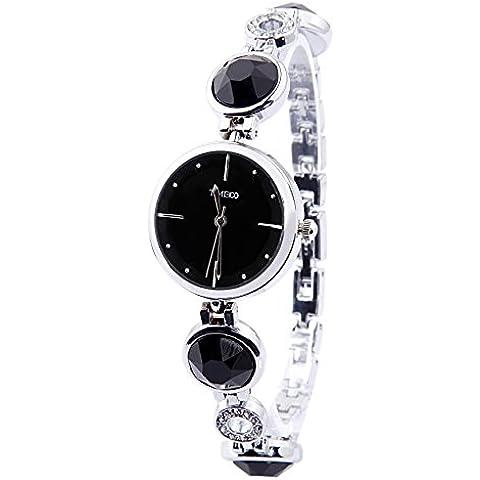 Time100 W50187L.04A W500 - Orologio da polso da donna, cinturino in lega colore bianco