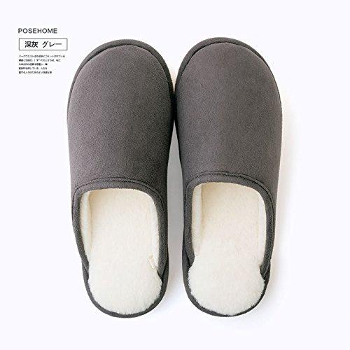 Las Pantuflas De Algodón Fankou Invierno Medio Paquete De Las Mujeres Con Parejas Zapatillas De Piso Zapatillas De Otoño Hombres De Interior Schwarz